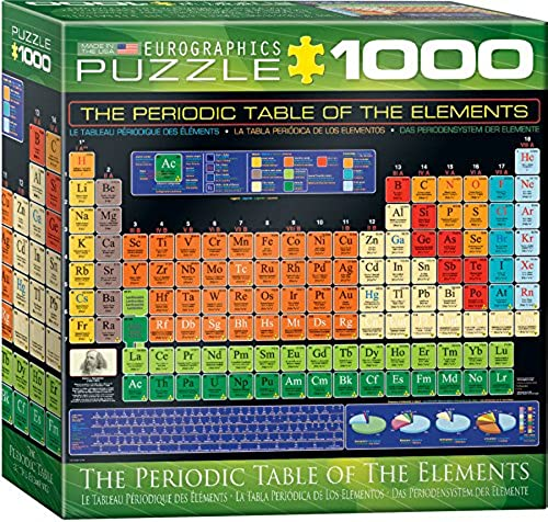 Eurographics Box The Periodic Table of The Elements MO Puzzle (8 x 8 Zoll), 1000 Teile