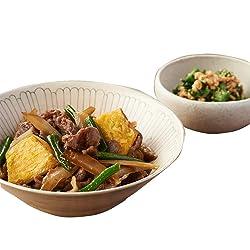 [冷凍] 2人前 ミールキット Oisix おんた牛と根菜炒め煮 ほうれん草とおくら とろり納豆和え副菜付き 調理約20分