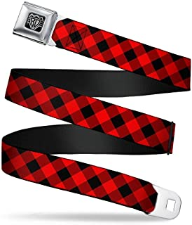red plaid belt
