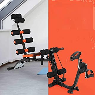 TOAVI Six Pack Exercise Bench With Bike with Cycle Motorized Hands and Foot Workout Folding Mini Cycle Pedal Exerciser for...