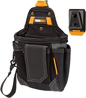 ToughBuilt - Warehouse Tool Pouch | 9 Pockets and Loops, Covered Cell Phone Holder, Tape Measure Clip, Notebook Holster, Premium Multi-Tool Organizer (Patented ClipTech Hub & Belts) (TB-CT-32-A)