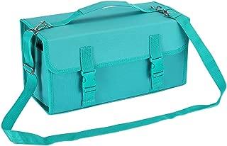 NIUTOP 120 Slots Marker Pen Case Markers Carrying Bag Holder for Primascolor Marker and Copic Sketch Marker, Permanent Paint Marker, Dry Erase Marker, Repair Marker Pen, Color Highlighter (Green)