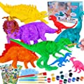 GiftInTheBox Dinosaur Painting Kit for Kids Crafts and Arts Set, Kids DIY Crafts and Arts Supplies Dinosaur Toys, Paint Your Own Dinosaur Figures, Gift for Boys Girls