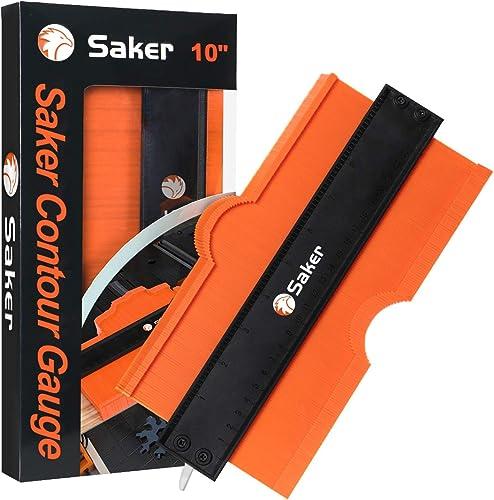 Saker Contour Gauge (10 Inch Lock) Profile Tool- Adjustable Lock-Precisely Copy Irregular Shape Duplicator -Irregular...
