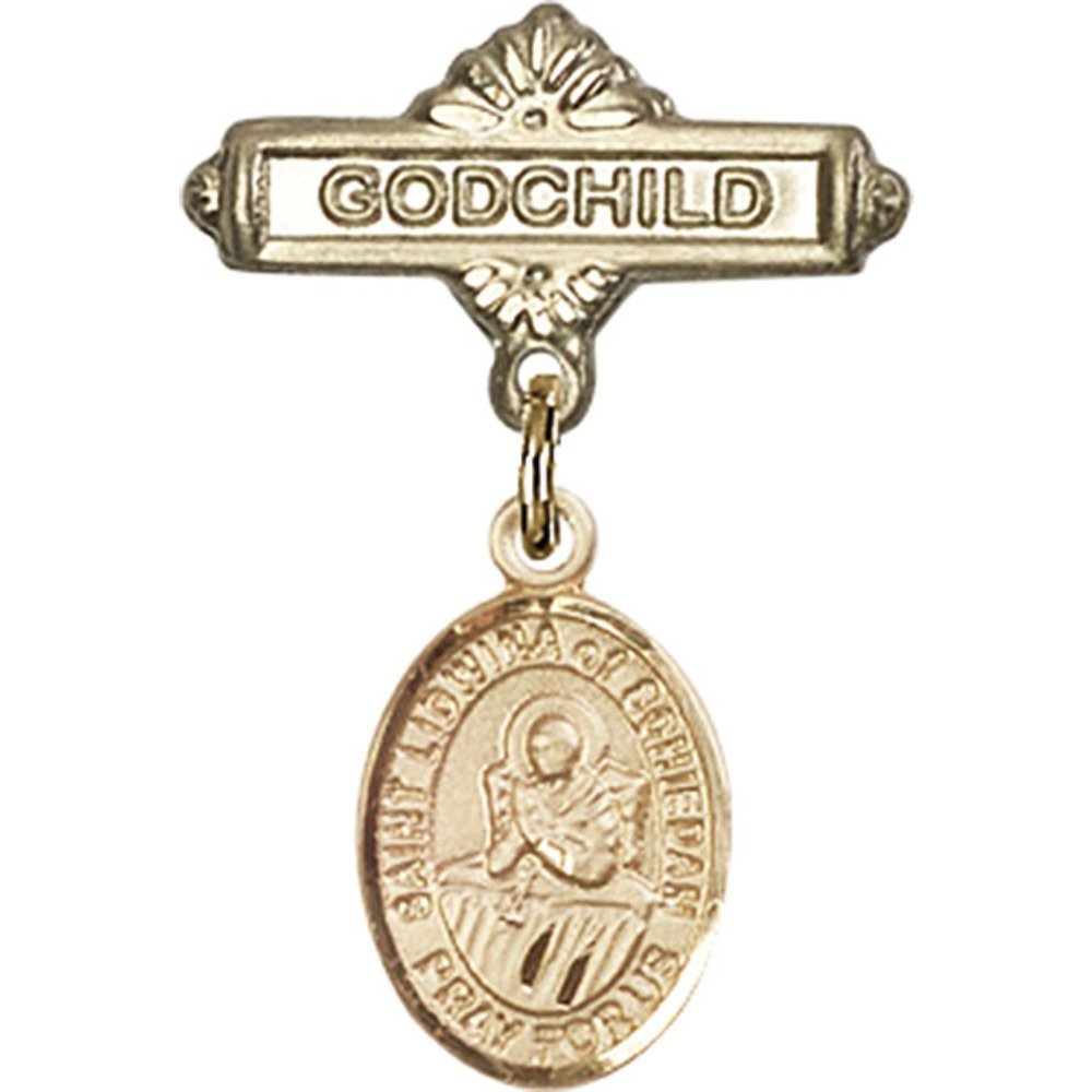 Gold Filled Baby Badge with St. of Ranking TOP19 Go Schiedam and Charm Lidwina supreme