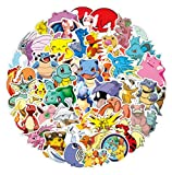 Gaekce Pokemon Stickers for Water Bottles, | Big 50-Pack | Cute,Waterproof,Aesthetic,Trendy Stickers for Teens,Girls,Perfect for Laptop,Hydro Flask,Phone,Skateboard,Travel| Extra Durable Vinyl