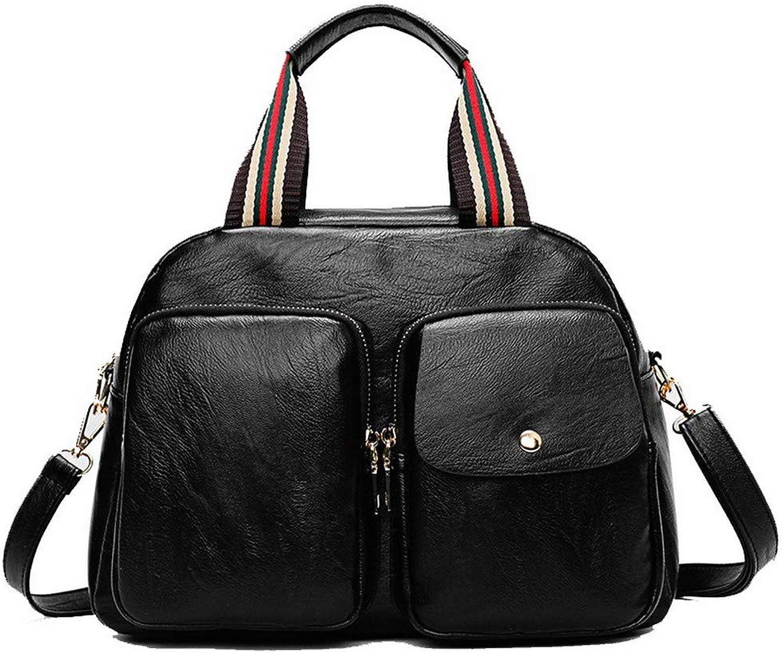 AllhqFashion Women's Shopping Pu Tote Bags Zippers Casual Crossbody Bags,FBUBC205213