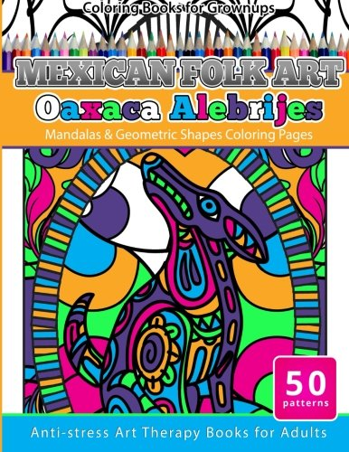 Mandalas /& Geometric Shapes Coloring Pages Anti-Stress Art Therapy Books for Adults Coloring Books for Grownups Day of the Dead Puppies