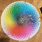 Prenine Rainbow Puzzle, Entretenimiento Educativo, Juego de Inteligencia Familiar, Hecho a Mano, 1000 Piezas (Arco Iris - Redondo)