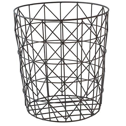 GOLDBEARUK Wäschekorb, Drahtgeflecht, geometrisch, modern, Standardgröße 28 x 31 cm, Schwarz