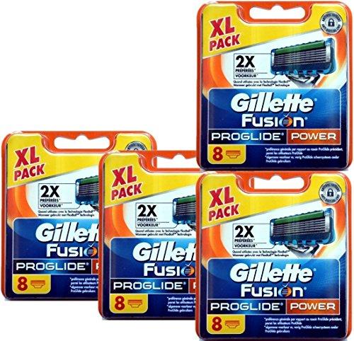 8| 16| 32Rasierer-Klingen Gillette Fusion, Fusion Power, ProGlide oder ProGlide Power 32 Klingen Gillette Fusion Proglide Power