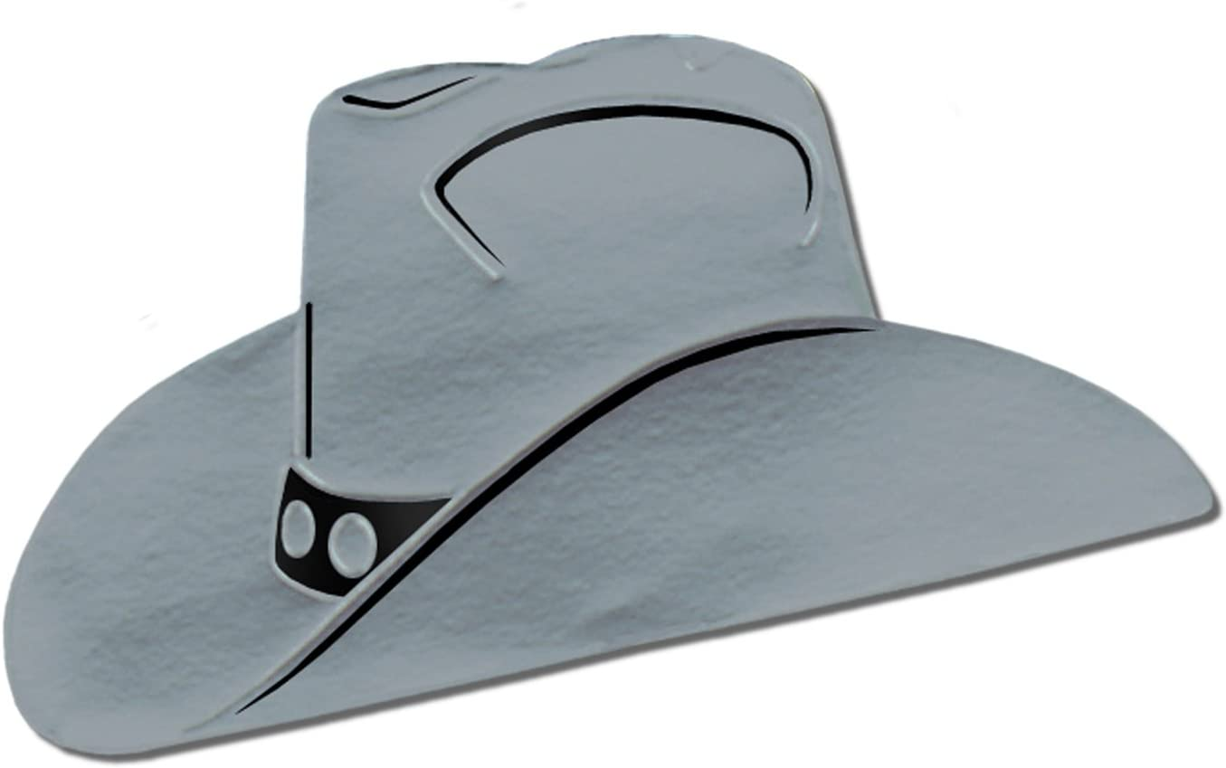 Foil Cowboy Hat Silhouette Silver Party Accessory 1 Count Kitchen Dining