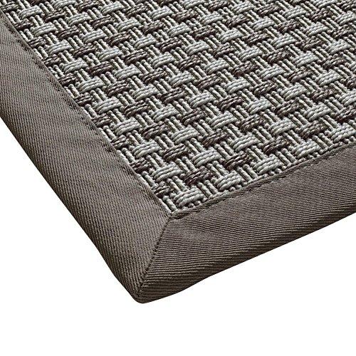 BODENMEISTER Sisal-Optik In- und Outdoor-Teppich Flachgewebe modern hochwertige Bordüre, verschiedene Farben und Größen, Variante: hell-grau, 160x230