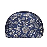Signare Tapestry cosmetic bag makeup bag for Women with Sea Shell Design(COSM-SHELL)