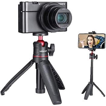 Ulanzi スマートフォン 三脚 自撮り棒 3way ミニ三脚 卓上三脚 3段伸縮 小型 ライブ三脚 iphone/Gopro/Osmo Pocket/一眼レフカメラ/ミラーレス/スマホ/アクションカメラに適用 雲台 コンパク 軽量