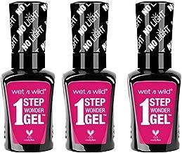 Wet n Wild 1 Step Wonder Nail Gel 0.45fl oz / 13.5ml (3 Pack, 723A It's Sher-Bert Day!)
