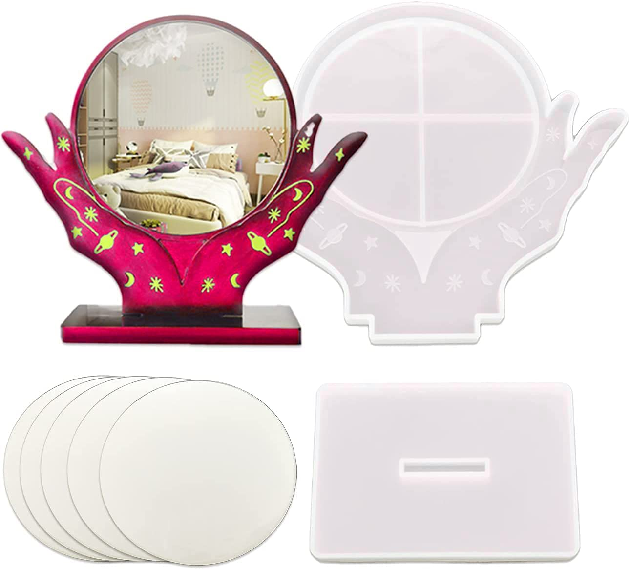 Epoxy Resin Molds for Picture Frame Hand Shaped L Makeup Department store specialty shop Mirror