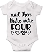 Lucky Star Pregnancy and Then There were Four, Baby Announcement Bodysuit