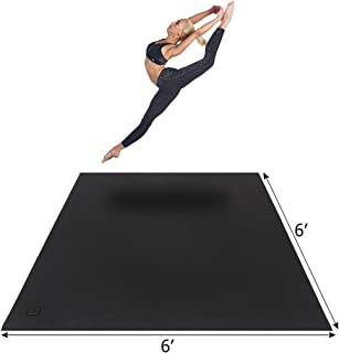 Gxmmat Large Yoga Mat 6'x6'x7mm Extra Thick, Ultra Comfortable, Non-Toxic, Non-Slip, Barefoot Exercise Mat -Pilates, Stretching, Workout Mats for Home Gym Flooring (6'x6' Yoga mat Without Shoes)
