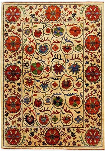 Nain Trading Afghan Ersari 246x169 Orientteppich Teppich Beige Handgeknüpft Afghanistan