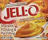 Kraft Jell-O Instant Pudding Dessert & Pie Filling, Pumpkin Spice, 3.4 Oz. Boxes (Pack of 6)