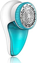 Fabric Shaver Rechargeable, lint Remover Sweater Pill Shaver,2-Speeds Removable Bin & Replaceable Stainless Steel Blade,Electric Fabric Defuzzer, Dual Protection