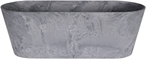 Ivyline 122485 Artstone Blumenkasten Claire, 57 x 18 x 31 cm, grau