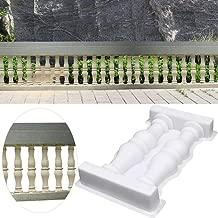Roman Column Fence Mold,Garden Fence Railing Plaster Concrete Mold Plastic Fence Mould Double Vase Art Path Mold for DIY Craft Home Garden Balcony Ornament Decor