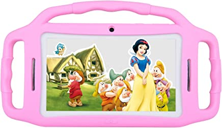 $59 Get Kids Tablet Android 7.1, 7 Inch, HD Display, Quad Core, Children Tablet, 1GB RAM + 8GB ROM, with WiFi, Dual Camera, Bluetooth, Educational,Touch Screen Kid Mode,Parental Control (Pink)