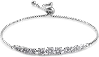 Cubic Zirconia CZ Tennis Bracelet for Women (Adjustable) Cttw 3.9 Hypoallergenic Jewelry Gift