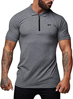 Men's Tops Shirt Zipper Stand Collar Short Sleeve Comfortable