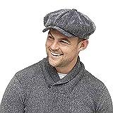 hommes hiver Casquette Gavroche Casquette grand-père avec Thinsulate Thermique doublure en épi gris - Gris, Medium / Large