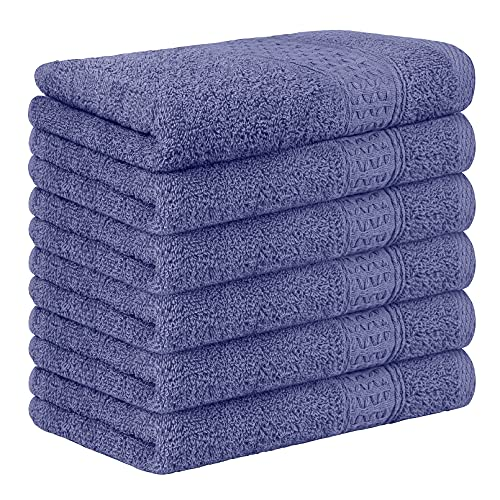 Yoofoss Juego de 6 Piezas Toalla de Mano 33x50 cm 100% Algodón Toallas Invitados Toallas de baño...
