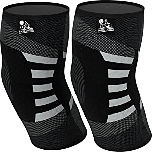 ELBOW COMPRESSION - Sleeves help support & brace the elbow joints for recovery and injury prevention COMFORTABLE - Designed with comfort in mind, even pressure throughout the sleeve for bracing effect VERSATILE - The best support for Men & Women - Pe...