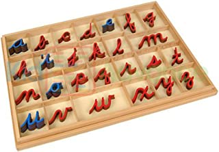Kid Advance Montessori Cursive Moveable Alphabets with Box