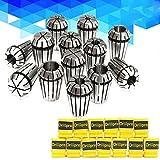 Yaootely 13pcs 1-13mm ER20 Spring Collet Set Torno de fresado y grabado de sujecion CNC