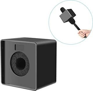 Neewer Portable Square Cube Shaped Interview Mic Microphone Flag Station Logo Max. 1.57 inches/4cm Hole, Black