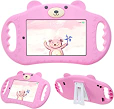 pzoz Tablet Case for Kids Compatible with 7 Tablet 7in Shock Proof Handle Protector Stand Girls Boys 7inch Cover for Tablet 7 inch 7th Edition Generation 2017 Release (Pink)