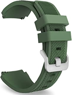 For Samsung Gear S3 Classic, Gear S3 Frontier, Gear S3 Frontier LTE - Premium Silicone Sport Smart Watch Band Strap Dark Green