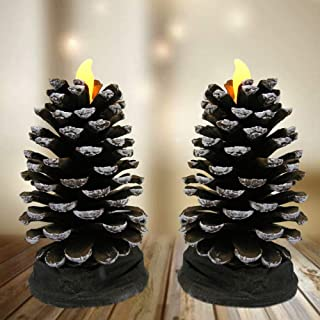 Beyonds Christmas Lights Ornaments Indoor Outdoor Decor for Wall Garden Terrace Party Bar A Waterproof 3D Fireplace Christmas Decoration Cosplay Candle Patio Light