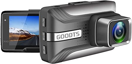 GOODTS Dash Cam 1080P FHD Car Camera Recorder 2.45 Inch LCD Screen 170°Wide Angle, Dash Camera for Cars with G-Sensor Loop Recording WDR Motion Detection Night Vision.