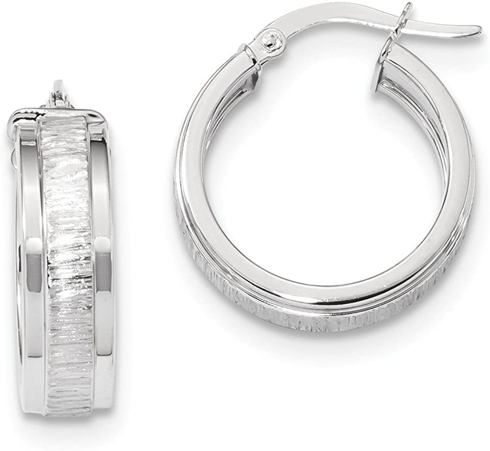 14k White Gold Hoop Earrings Ear Hoops Set Round Fine Jewelry For Women Gifts For Her