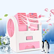 Air Coolers, Portable Personal Space Arctic Air, Mini Air Conditioning 3-in-1 Fan Humidifier Purifier (USB or Battery Powered), for Home/Bedroom/Office/Outdoor (No Noise)(No Sachet)(Pink)