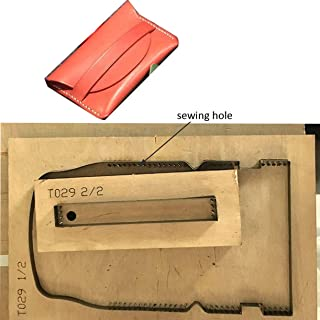 WellieSTR 1 Set DIY Leather Craft Card Holder die Cut Knife Mould Hand Punch Tool (with Stitch Hole)
