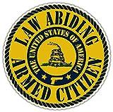 Law Abiding Armed Citizen Rattle Snake Don't tread on me Vinyl Bumper Sticker Decal 5
