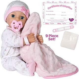 "Adora Adoption Baby ""Hope"" 16 Inch Vinyl Girl Newborn Weighted Soft Cuddle Body.."