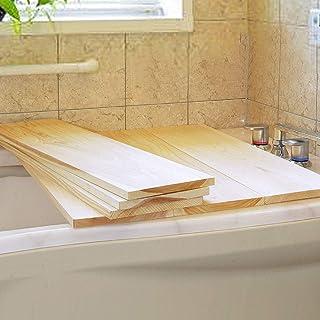 【国産ひのき】木製 風呂ふた (約70×20×1.5cm) フロフタ 風呂蓋 お風呂 蓋