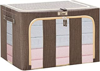 66L Grande Capacité De Stockage Boîte, Accueil Perspective Fenêtre Fabric Storage Organizer Avec Poignée, Double Ouverture...