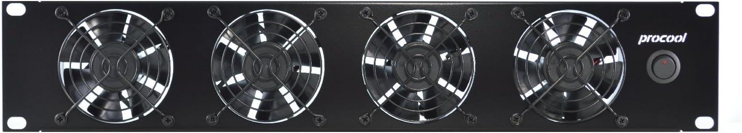 PROCOOL TV480 2U Rack Mount Intake Fan/High Power Cooling System Network Servers Data Center Industrial 19