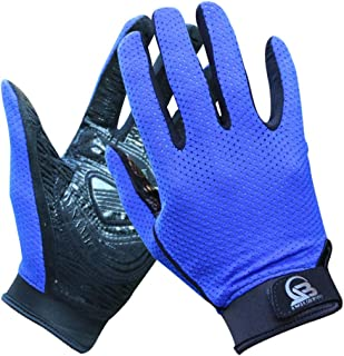 HNBY Outdoor Climbing Gloves All-in-one Non-Slip Sports Breathable Summer Mesh Rubber Gloves (Color : Blue, Size : M)